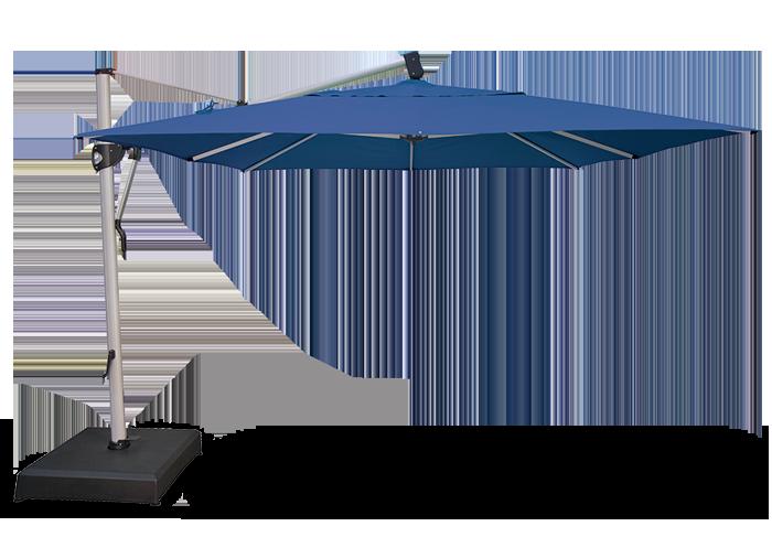 Deluxe 10 ft x 13 ft octagon cantilever umbrella southport outdoor living for Treasure garden cantilever umbrella 13